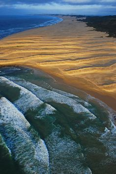 ✯ South African coast at sunrise from a helicopter