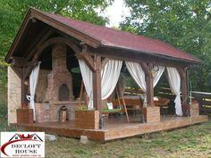 DECLOFT HOUSE: Foisor pentru gradina ta Casa Patio, Village Houses, Design Case, Rustic Decor, Gazebo, Garden Design, Home And Garden, Backyard, Outdoor Structures
