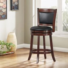 TRIBECCA HOME Verona Cherry Swivel 24-inch Counter Height Stool   Overstock™ Shopping - Great Deals on Tribecca Home Bar Stools