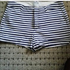 Old navy navy and white striped shorts Old navy navy and white striped shorts Old Navy Shorts