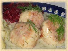 Domowa kuchnia Aniki: Pulpety z indyka w sosie koperkowo - chrzanowym Polish Recipes, New Recipes, Recipies, Dinner Recipes, Polish Food, Easy Recipes, Poultry, Ham, Mashed Potatoes