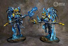 Tzeentch Daemon Princes - converted Morghasts Archai