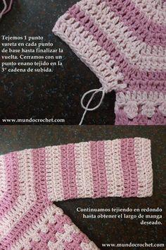 Como-tejer-un-saco-campera-cardigan-o-chambrita-a-crochet-o-ganchillo-desde-el-canesu35.jpg (500×750)