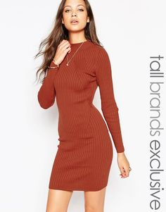 New Look Tall Ribbed Dress