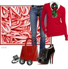 """Candy Cane Lane"" by christa72 on Polyvore"