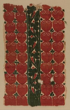 Fragment. Egypt, 4th - 5th century. Linen and wool in tapestry weave. From the Met: 90.5.357