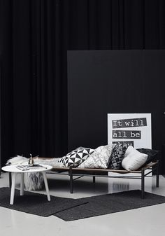 La maison d'Anna G.: Broste Copenhagen day bed, rugs and copper pear jar at Designtrade DK. #styling #designtrade