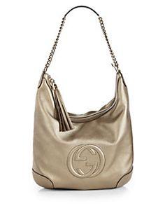 Gucci - Soho Metallic Leather Chain Shoulder Bag