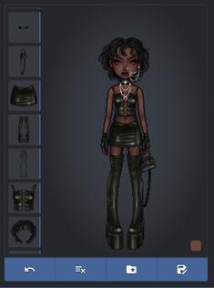 Virtual Girl, Virtual Fashion, Fashion Art, Girl Fashion, Dream Drawing, Diy Clothes And Shoes, Cute Goth, Cool Avatars, Drawing Anime Clothes