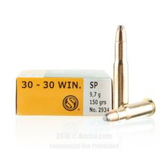 Sellier and Bellot 30-30 Ammo - 500 Rounds of 150 Grain SP Ammunition #3030Win #3030WinAmmo #SellierandBellot #SellierandBellotAmmo #SellierandBellot3030Win #SPAmmo