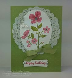 Rubber Stamping and Paper crafting by Brenda Keenan, Independent Stampin' Up! Demonstrator since (All images copyright Stampin' Up! Wild Flower Meadow, Wild Flowers, Birthday Cards, Happy Birthday, Embossing Folder, Stampin Up Cards, Paper Crafts, Create, Floral