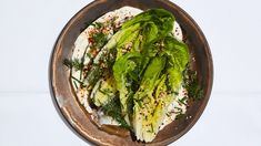 Little Gem Wedge Salad with Tahini Ranch Recipe | Bon Appetit