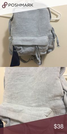Brandy Melville MINI blue corduroy backpack No trades, PayPal, etc. Brandy Melville Bags