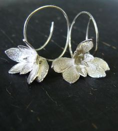 Purslane Flower Hoop Earrings
