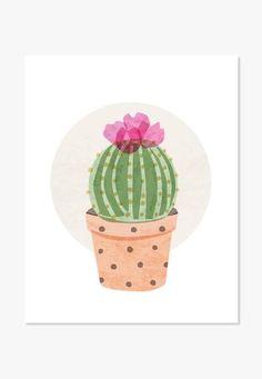 Cactus Art Print   ColorBee Creative