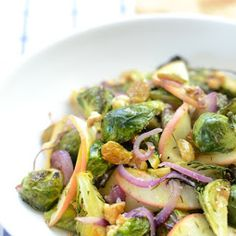 Brussels Sprout & Apple Salad with Cider Vinaigrette