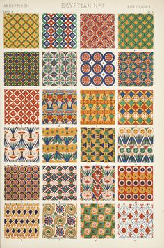 Owen Jones (1809-1874) was an English born Welsh architect and designer. Jones created a comprehensive global design reference book, The Grammar of Ornament published in 1856 - #textile