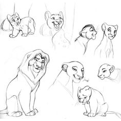 The Lion King sketch ❤ liked on Polyvore featuring disney, drawings, art…