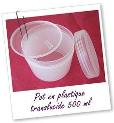 Pot simple paroi en PP neutre 500 ml Aroma-Zone