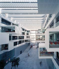 Interior of the IT University of Copenhagen. Henning Larsen Architects. #ITU #Copenhagen