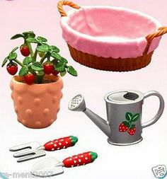 Re-ment miniature Lovely Strawberry House Cooking Kitchen Dessert Cafe RARE @6