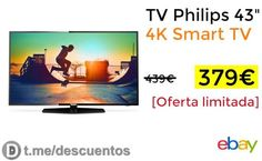 TV Philips 43 4K Smart TV por 379 - http://ift.tt/2yOBE2R