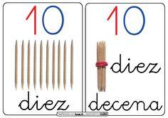 Nuestro alumnado han aprendido cuales son los números de una forma  manipulativa. Utilizando palillos de dientes, se ha trabajado las  unid...