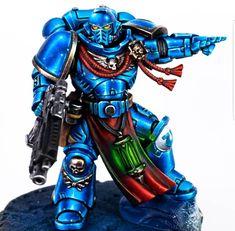 Warhammer Figures, Warhammer Paint, Warhammer 40k Art, Warhammer Models, Warhammer 40k Miniatures, Military Figures, Space Wolves, Miniature Figurines, Mini Paintings