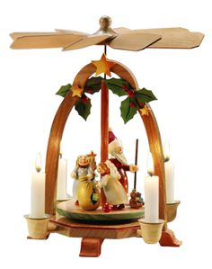 Pyramid Angel Magic Designed By The Rothenburg Christmas Workshop Hand Painted Wooden Pyramid Height Cm Without Candles Please Use The Small Candles