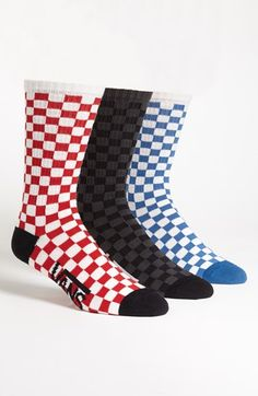 59a8be5dc7 Vans Checkerboard Socks (3-Pack)