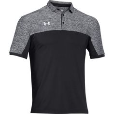 Golfers can look their best out on the course dressed in this Under Armour® Men's Team Podium Polo. From practices to competitions, this polo looks stylish with its heathered chest. Under Armour Team, Athletic Looks, 4 Way Stretch Fabric, Golf Polo Shirts, Sports Shirts, Camisa Polo, Mens Fashion, Mens Tops, Clothes