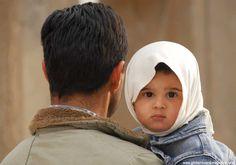 Iranian girl with daddy, Persepolis, IRAN
