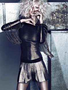 From the April issue: The metallic trend takes another spin in our latest photo shoot « fashionmagazine.com