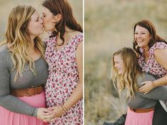 Sarah + Laura Engagement ~ femme lesbian engagement photography in the foothills of Boise, Idaho at sunset ♥