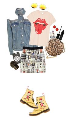 """Don't ask me why?!"" by girlyskullsam ❤ liked on Polyvore featuring Topshop, Marc Jacobs, Dolce&Gabbana, Dr. Martens, MadeWorn, SW Global, Teeez and Alexander McQueen"
