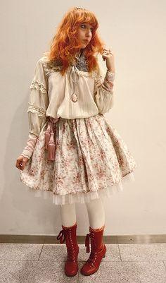 Mori Girl / Inspiration discovered by Pagliaccio Mori Girl Fashion, Frock Fashion, Modest Fashion, Fashion Outfits, Lolita Fashion, Kawaii Fashion, Cute Fashion, Whimsical Fashion, Japanese Street Fashion