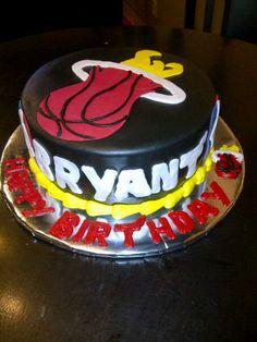 Miami Heat birthday cake