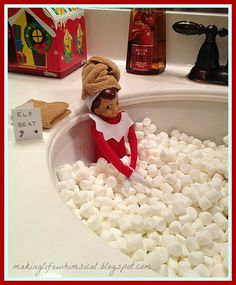 Great Elf on The Shelf ideas :)—- Cant wait to use ours this year | How Do It