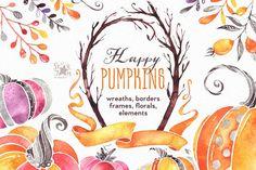 Happy Pumpkins! by StarJam on @creativemarket