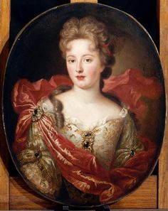 circa 1695 (sitter looks to me like Françoise Marie de Bourbon 1677-1749, the youngest legitimised daughter of Louis XIV of France and his maîtresse-en-titre, Françoise-Athénaïs, marquise de Montespan)