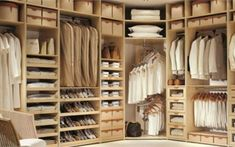 Clean classic and neutral this closet by Studio Becker feels like a fitting room in a high-end clothing store The drawers and storage boxes feature hand-stitched leather pulls and the shelves are crafted from quality maple wood Cool Yoga Poses, Mixed Nuts, Stitching Leather, Healthy Breakfast Recipes, Storage Boxes, House Design, Closet, Drawers, Neutral