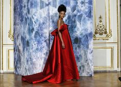 A model presents a creation by French designer Alexis Mabille as part of his Haute Couture Fall/Winter 2014-2015 fashion show in Paris July 7, 2014. REUTERS/Gonzalo Fuentes