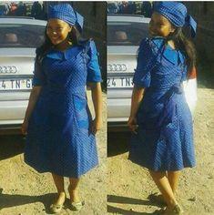 Seshoeshoe Dresses Designs For Womens ⋆ Pedi Traditional Attire, Sotho Traditional Dresses, African Traditional Dresses, Short African Dresses, African Print Dresses, African Fashion Dresses, Seshoeshoe Designs, Seshoeshoe Dresses, Shweshwe Dresses