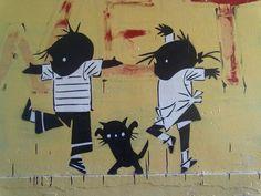 Jip & Janneke by Akbar Sim [graffiti, street art]