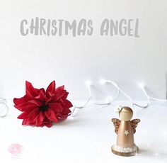 This beautiful rose gold angel is already for Christmas! She stands on a piece of rustic word and is surrounded by snow. She is the perfect addition to your Christmas home decor or she would make a lovely gift as comes packaged in a beautiful handmade gift box. You can choose to have a