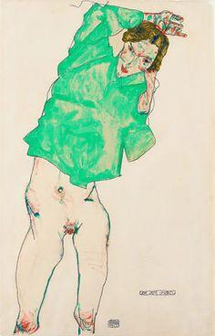 Before the Mirror, 1910 Egon Schiele