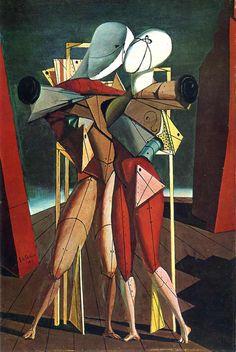 Giorgio de Chirico - Hector and Andromache, 1912 METAFISICA - CORRENTE ARTISTICA ITALIANA.
