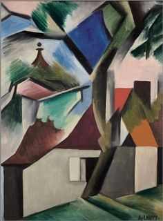 'Landscape with houses' (1920s) by André Lhote