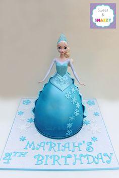 Elsa Cake - Elsa Doll Cake - Frozen cake by Sweet & Snazzy https://www.facebook.com/sweetandsnazzy