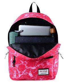Pink Girl Fashion Backpack School Bag Stylish Galaxy Cook Rucksack Teen Kids USA…